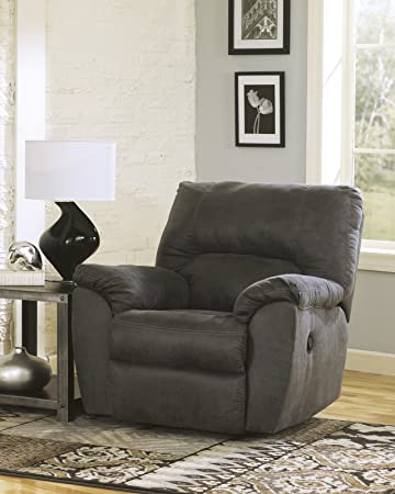 Beau Ashley Furniture Signature Design   Tambo Rocker Recliner   Pull Tab Manual  Reclining   Contemporary