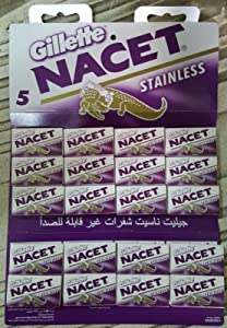 100 NACET Stainless Double Edge Razor Blades Made Russia Men's Razors