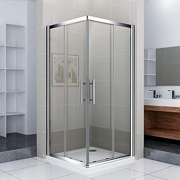 Duschabtrennung schiebetür eckeinstieg  80x80x185cm Eckeinstieg Duschkabine Duschtür Schiebetür Eckdusche ...