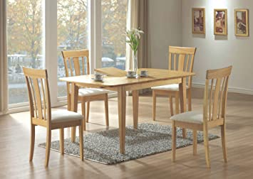 Amazoncom X X MAPLE DINING TABLE WITH A LEAF Tables - 36 x 48 dining table with leaf