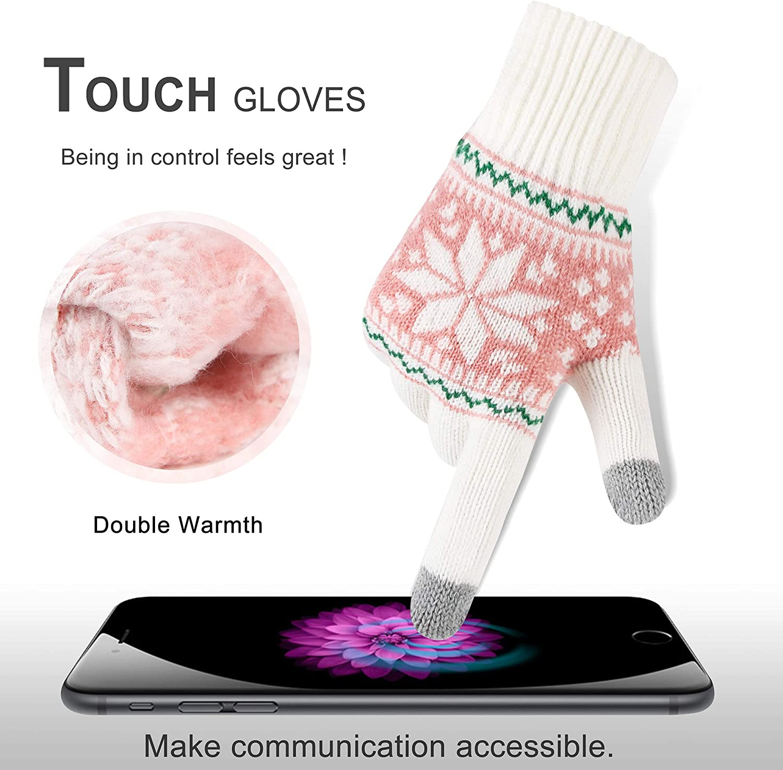 VENIMASEE Guanti moto invernali touch screen da neve guanti termici uomo donna