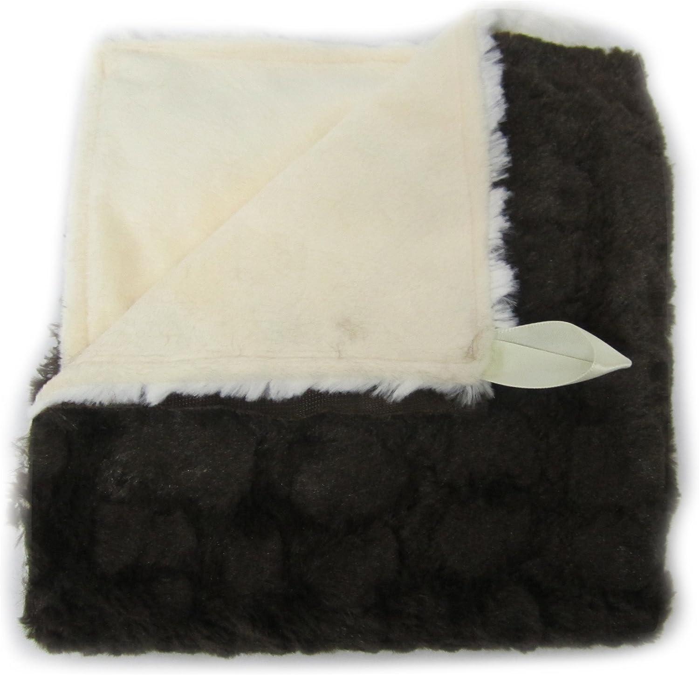 Baby Doll Bedding Sheepskin Mini Blanket, Choco/Ivory by BabyDoll Bedding
