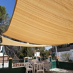 Sekey Toldo Vela de Sombra Rectangular Protección Rayos UV, Resistente Impermeable Transpirable para Patio, Exteriores, Jardín, 2 * 3m Antracita, con Cuerda Libre y Kit de Montaje: Amazon.es: Jardín