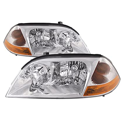 amazon com headlightsdepot chrome housing halogen headlight Acura MDX Headlight Bulb amazon com headlightsdepot chrome housing halogen headlight compatible with acura mdx 2001 2003 includes left driver and right passenger side headlamps