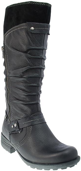 025fda0d Earth Spirit Yonkers Ladies Boots Black 18096 (UK 3): Amazon.co.uk ...