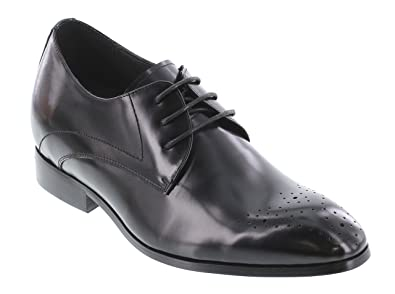 K323011 - 3 Inches Taller - Height Increasing Elevator Shoes - Black Lace-up Dress Shoes