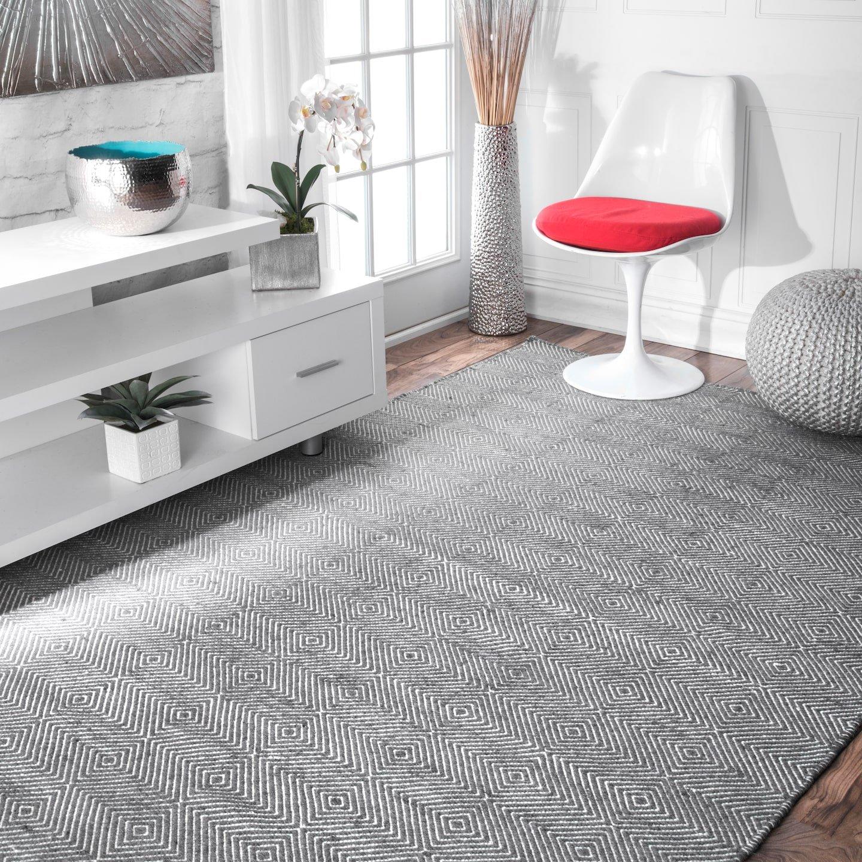 nuLOOM Agoja Hand Tufted Wool Rug, 4 x 6 , Grey