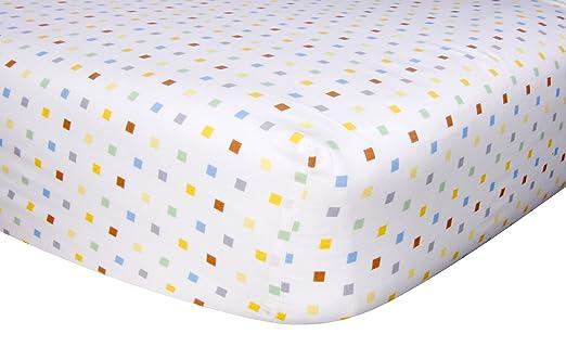 Amazon.com : Trend Lab Crib Sheet, Baby Barnyard : Baby Crib ...