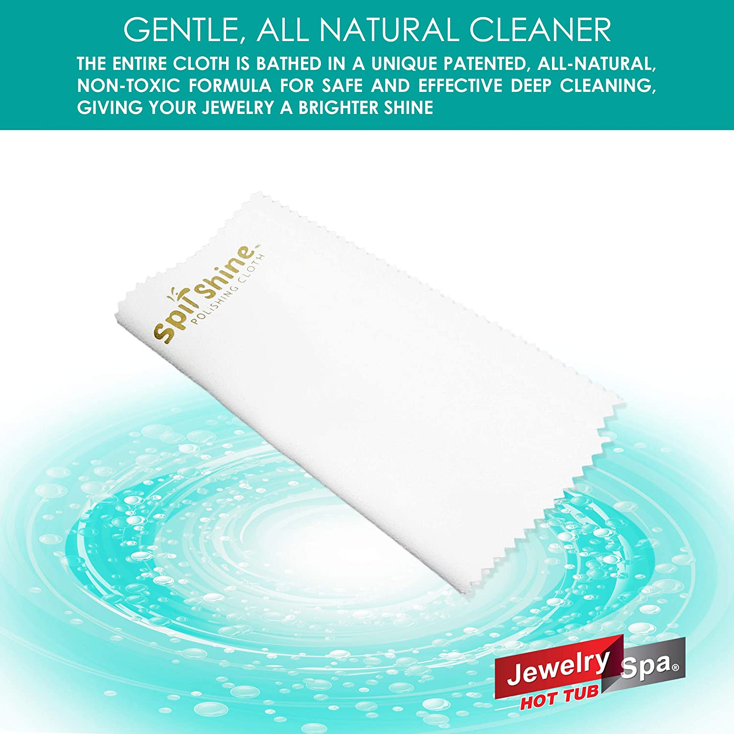 Silver 8 x 8 inches Copper Patented Naturally-Based Formula Jewelry Spa Spit Shine Jewelry Cleaning Cloth Brass - for Use to Polish Gold Silverware