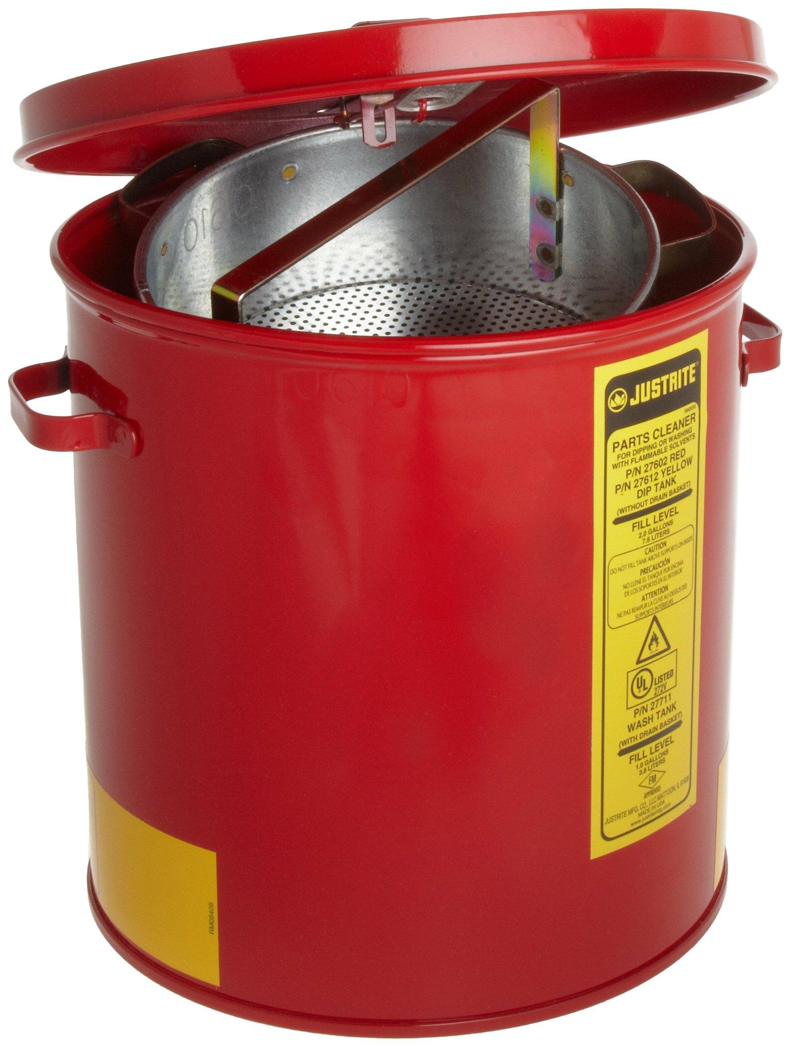 Justrite 27711 1 Gallon, 9 3/8'' x 10.00'' Wash Tanks