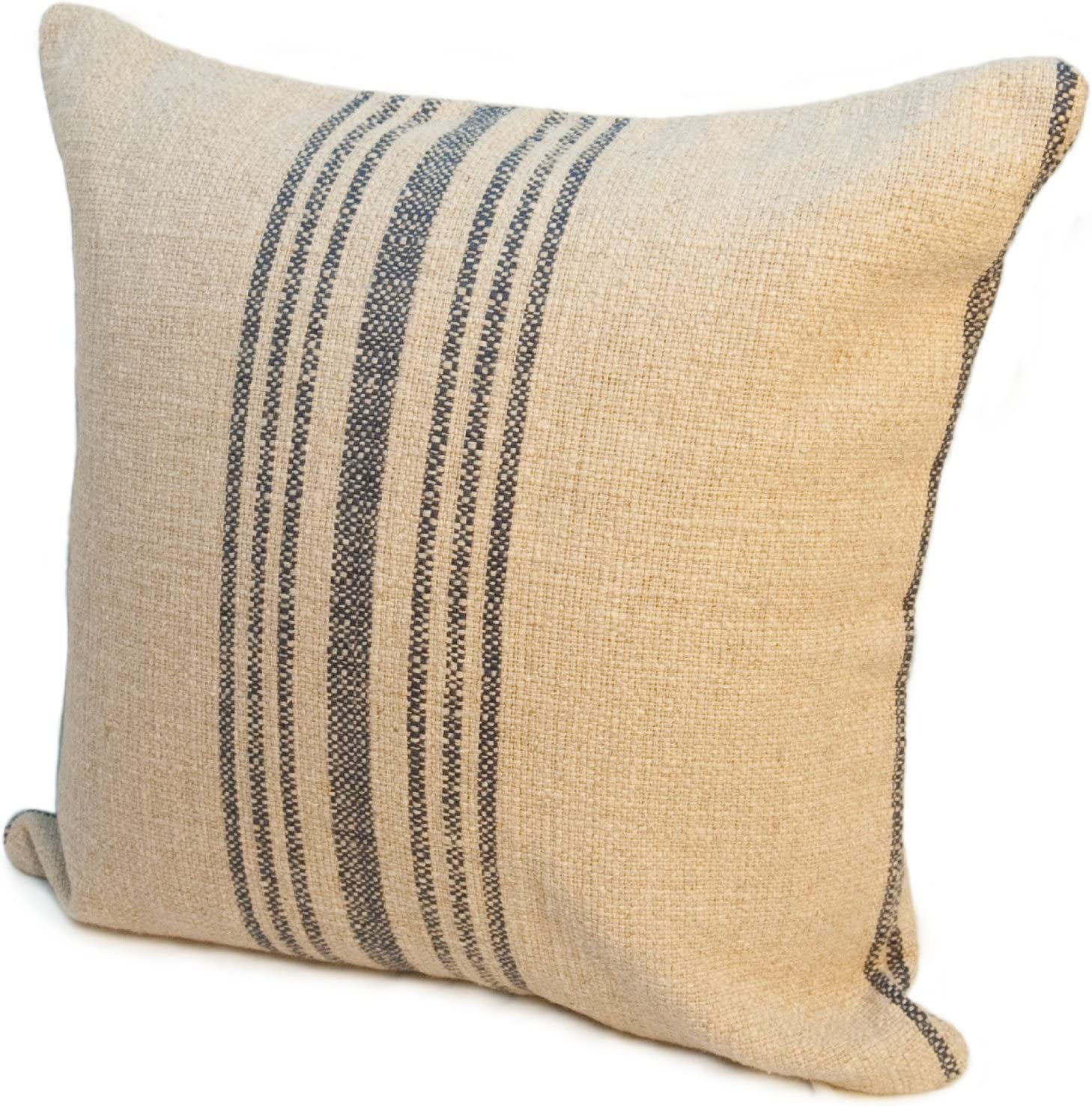 Red 24 Inch Rennie Rose Bernard Stripe Throw Pillow Home Kitchen Decorative Pillows Inserts Covers