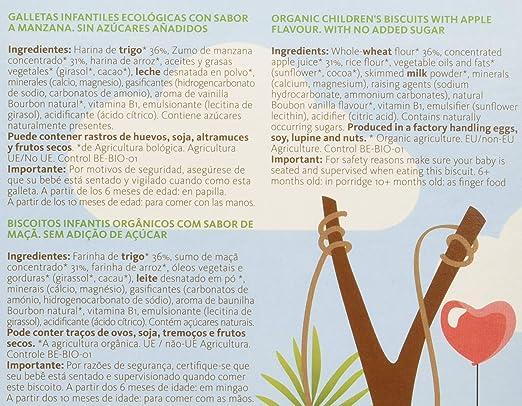 Yammy, Galleta Ecológica Bebé (Baby Vainilla) 6+ - 6 de 150 gr. (Total 900 gr.): Amazon.es: Alimentación y bebidas