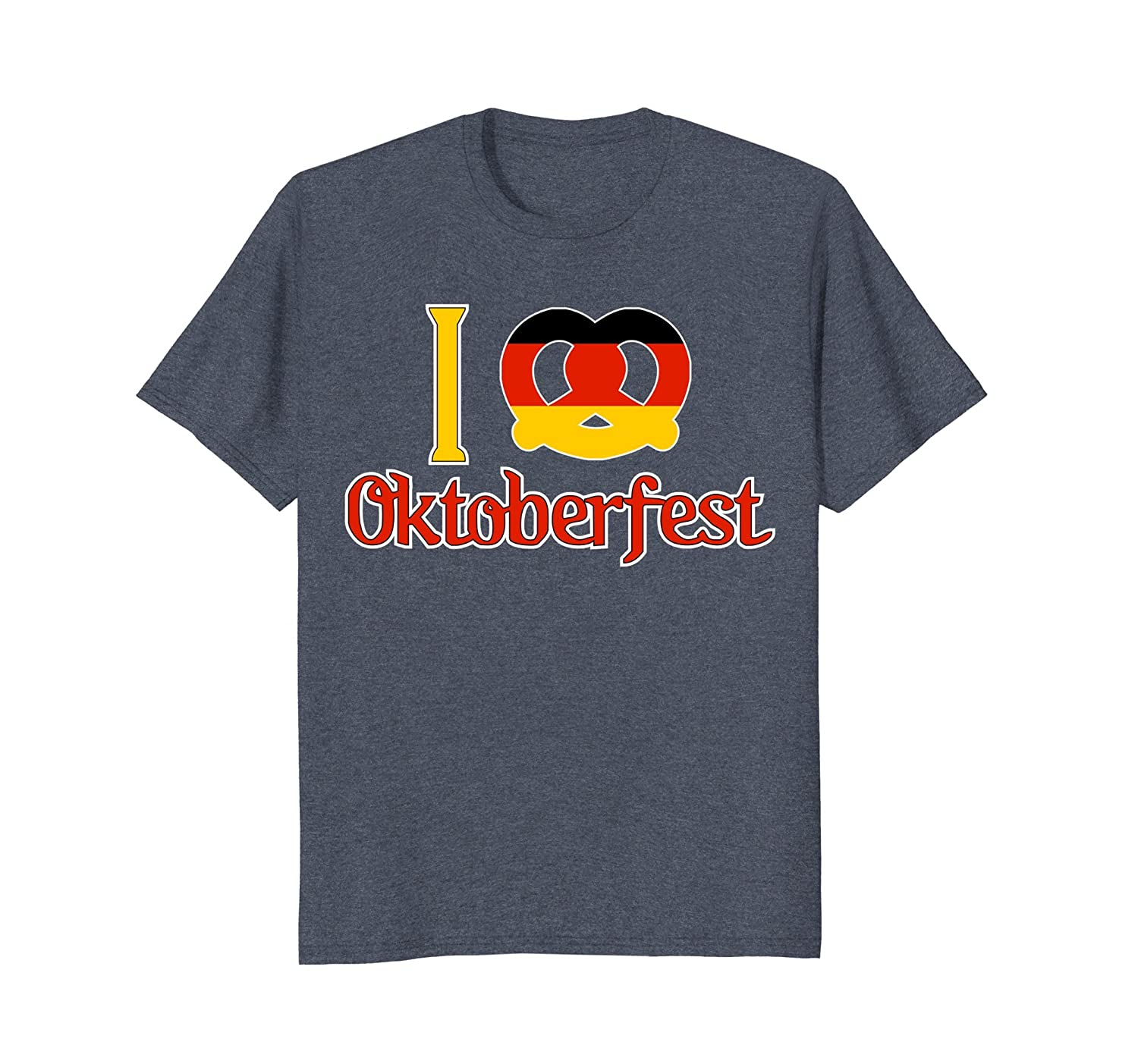 2017 I Heart Oktoberfest Shirt German Flag Pretzel Kid Women-AZP