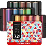Magicfly Colored Pencils Set of 72 Colors, Wax-Based Colored Pencils Ideal for Drawing Arts, Coloring Books, Sketching, Shading in Tin Box, Art Supplies