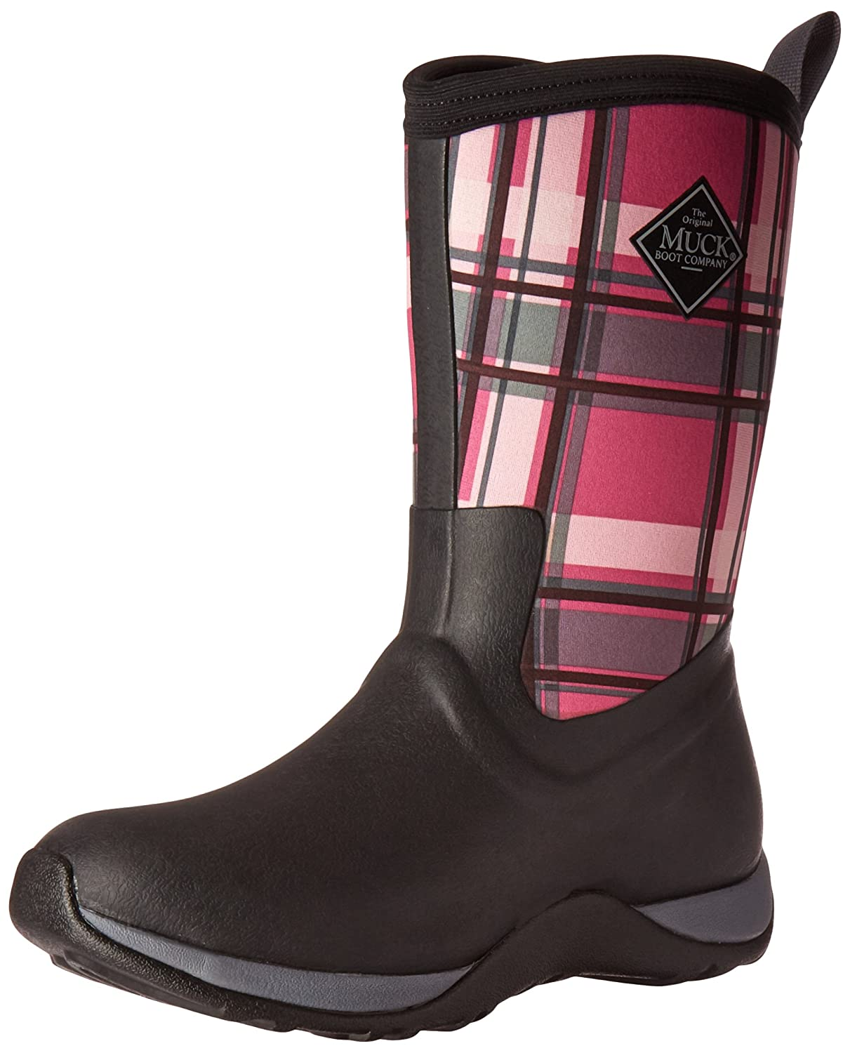Muck Boot Women's Arctic Weekend Mid Snow B00TT371RY 9 B(M) US|Black/Pink Plaid