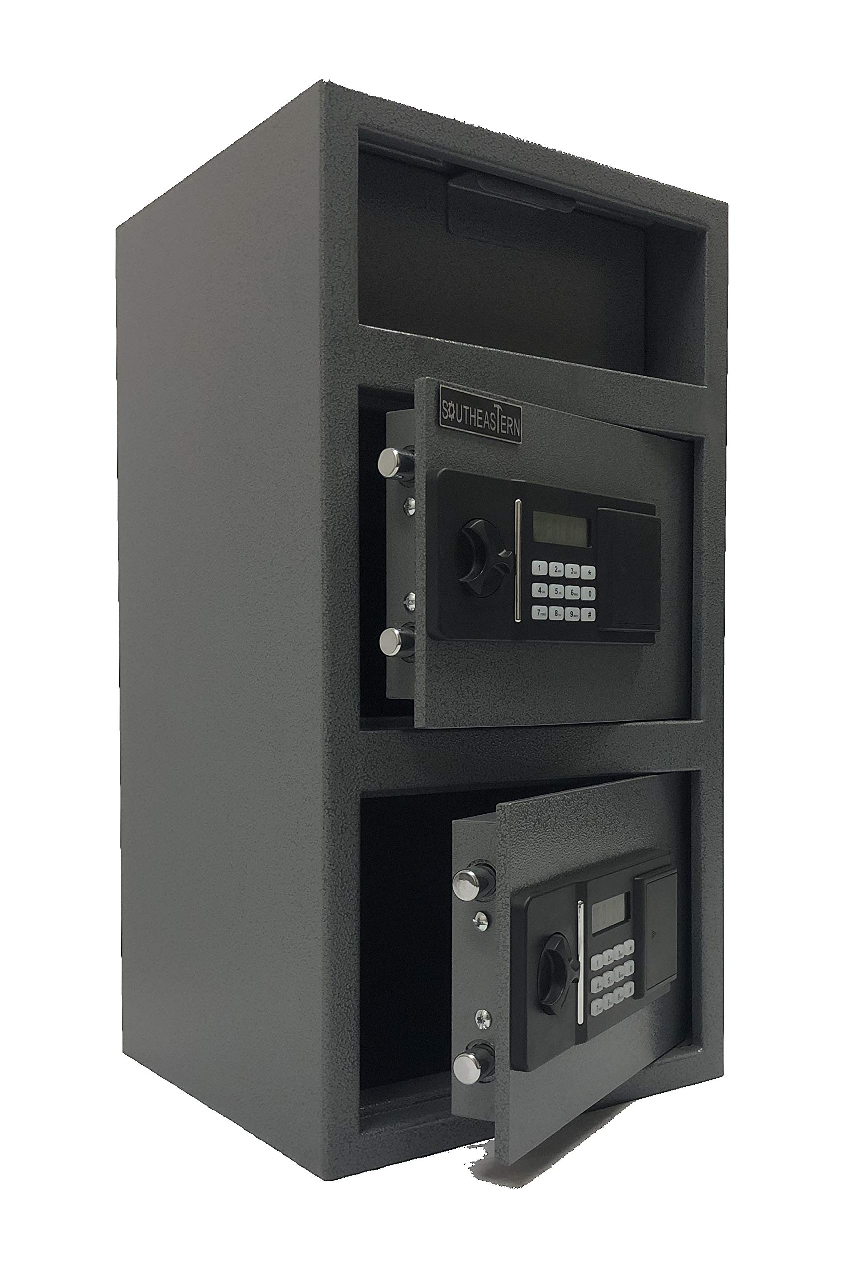 SOUTHEASTERN FL2714EE Double Door Cash Drop Depository Safe with Quick Access Electronic Lock