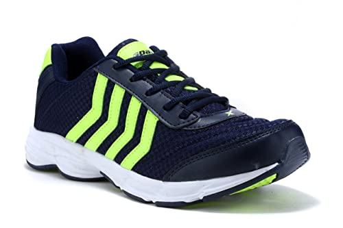 ff0d0e96739b Sparx Men s Navy Blue and Flourscent Green Mesh Running Shoes - 10 UK India  (
