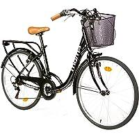 "Moma Bikes, Vélo de Ville City Classic 26"", Aluminium SHIMANO 18V"