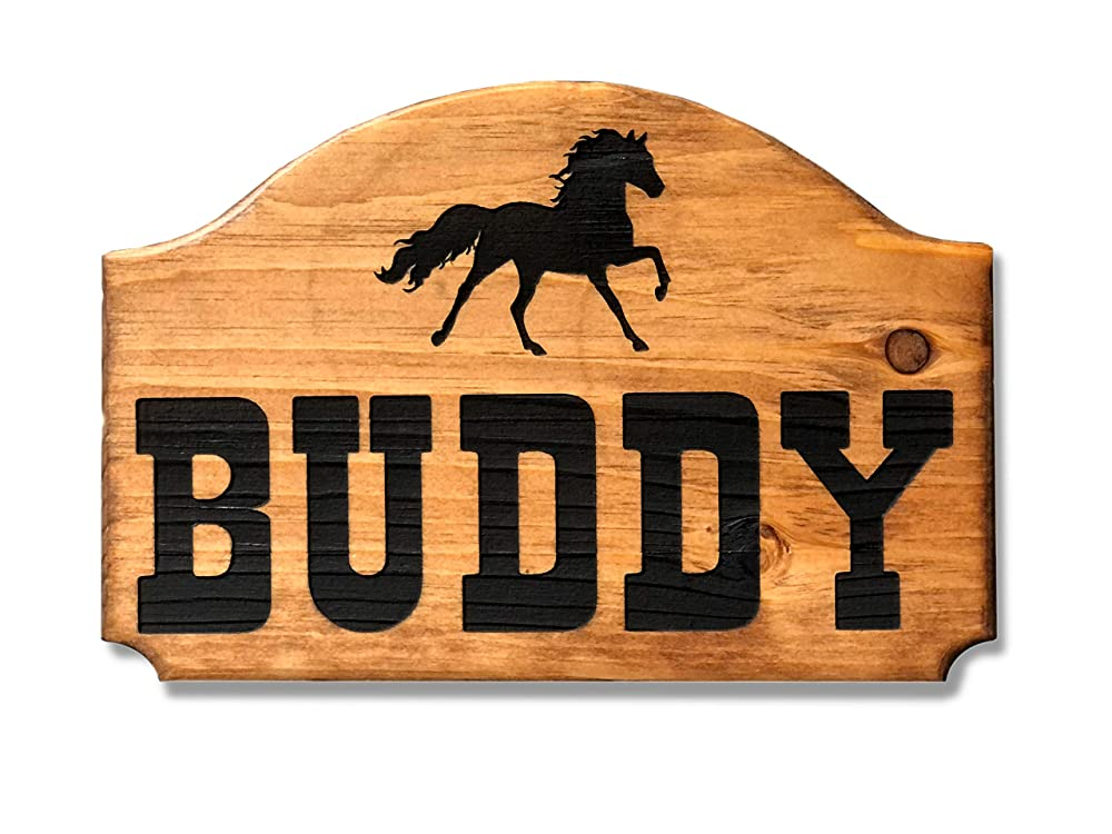 Wood-Burned Signs For Horse Stalls Custom Barns and More!