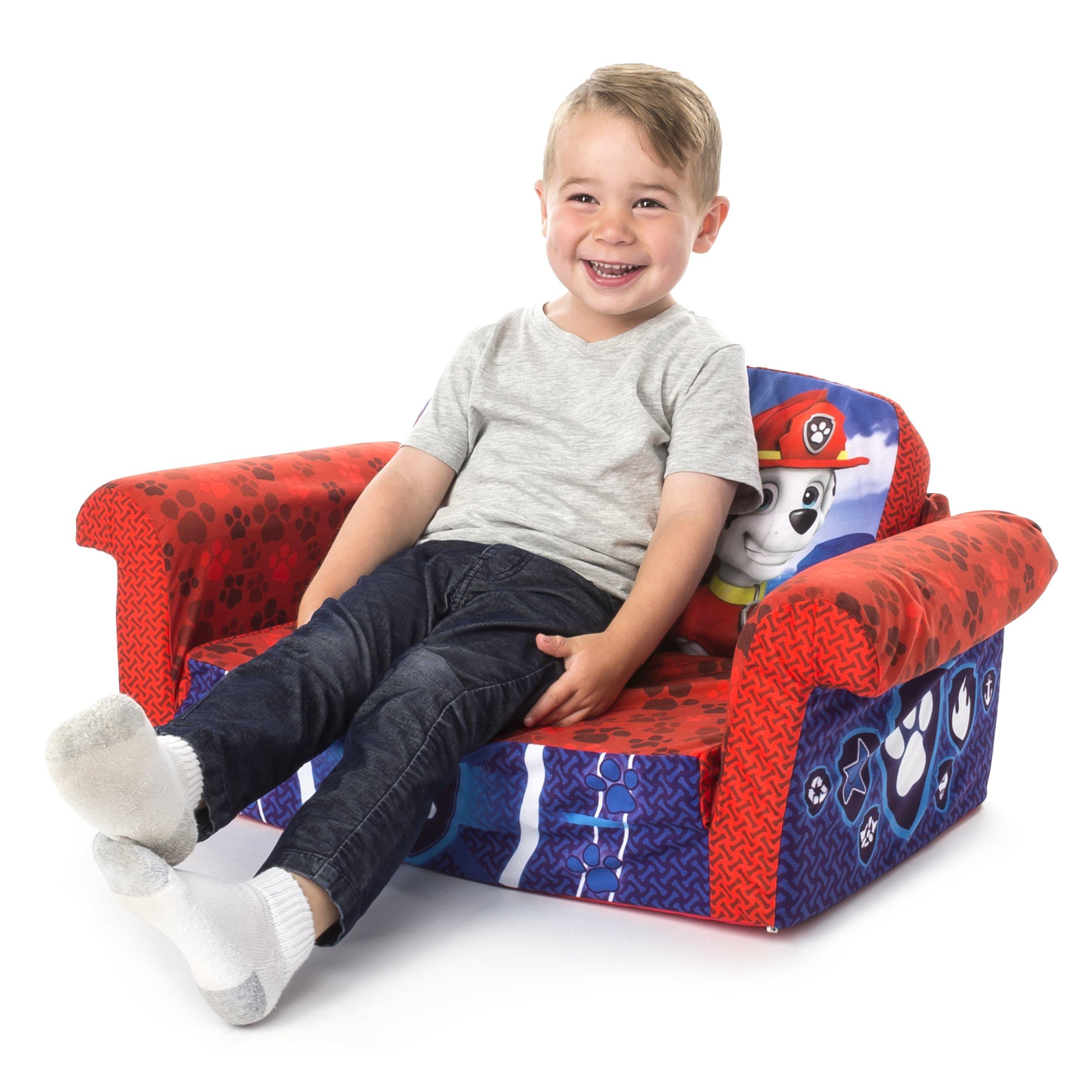 Marshmallow Furniture Children's 2 in 1 Flip Open Foam, Nickelodeon Paw Patrol Sofa Chair Furniture, Red by Marshmallow Furniture (Image #4)