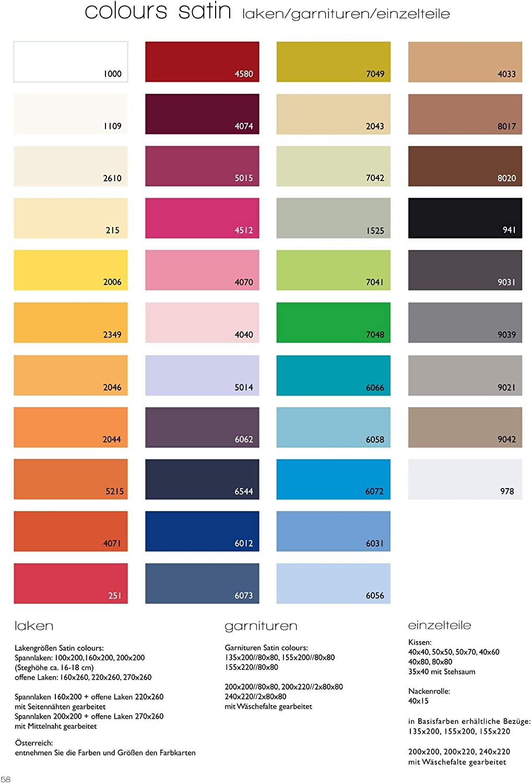 algod/ón Mako Funda Satinada de coj/ín Color Vino Fleuresse Colours 9100-4074