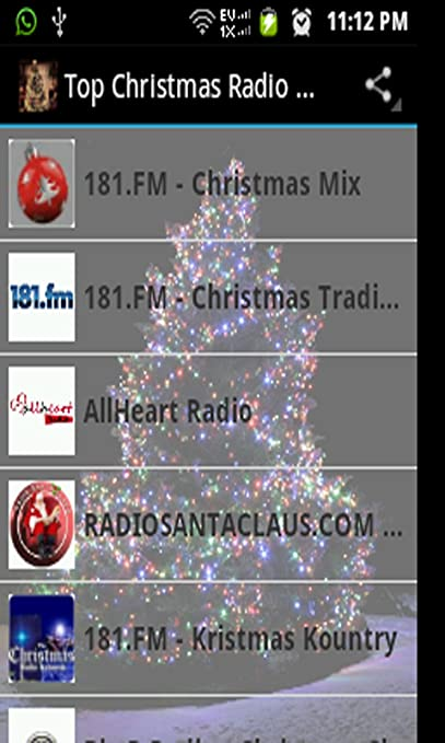amazoncom top christmas radio stations appstore for android