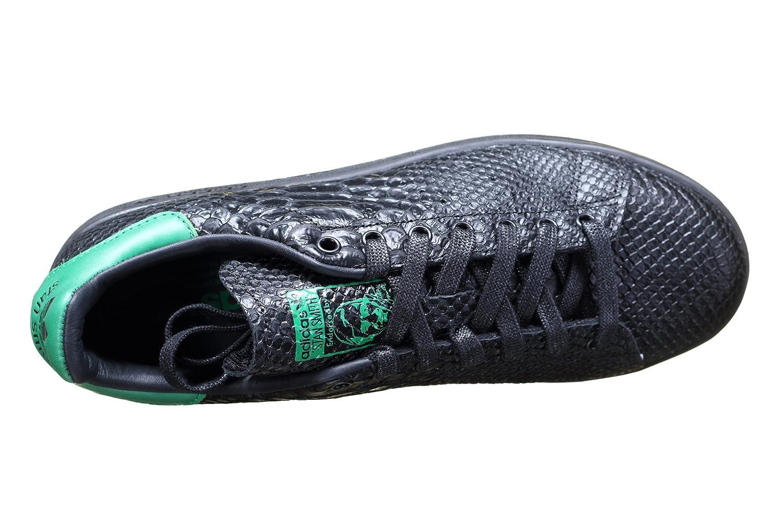 bas prix 084c0 2a80a Basket Adidas Stan Smith Noir Croco et Vert