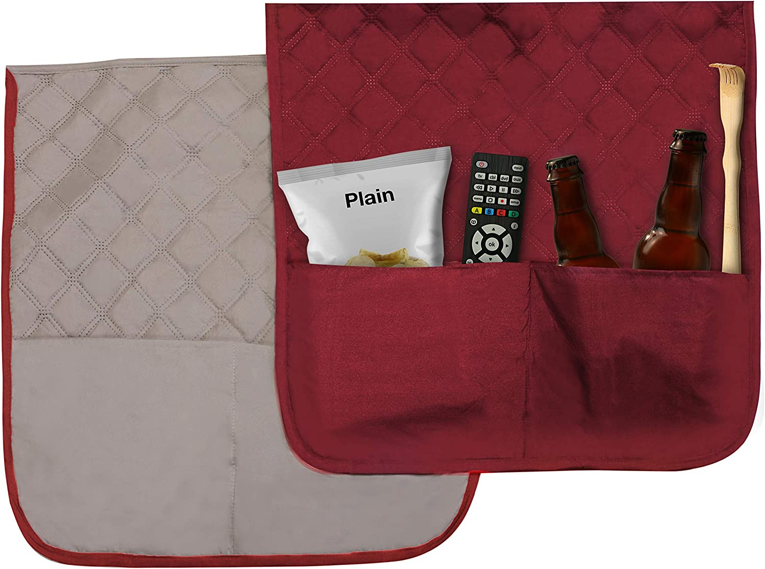 Anti-slip Durable fabric Water Dust-Free protect sofa and couch Furniture Cover Stain-Free Snack CHAIR - 1 Claw-Proof 2 Pockets for Remote Seat protection Slipcover COMFII HOME Luxury Reversible Quilted Chair Cover 1 Seater Elastic strap