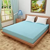 "Dream Care™ Waterproof Dustproof Terry Cotton Mattress Protector for King Size Bed - 78""x72"", SkyBlue"