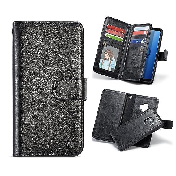 best website c2613 af2ef Galaxy Note 8 Wallet Case,[BRG Brand][9 Credit Card Slots][Detachable  Protective Case]Premier PU Leather Vintage Folio Flip Cash Holder Magnetic  ...