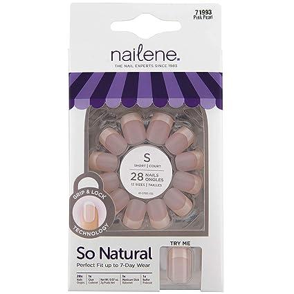 Nailene Así uñas naturales con más aquí y pegamento Corto ...