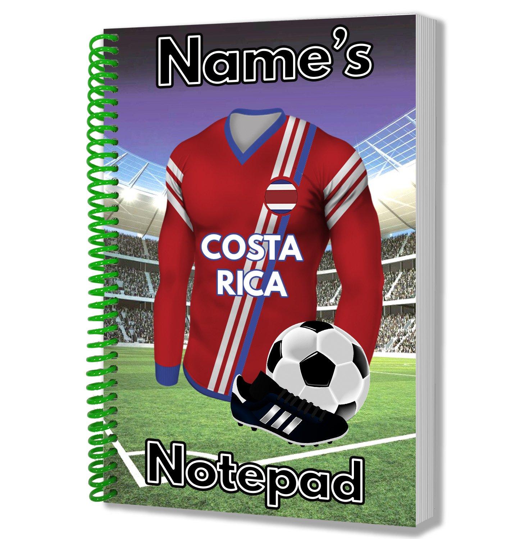 World Cup 2018 - Bloc de notas con temática de camiseta de fútbol - Team Costa Rica: Amazon.es: Oficina y papelería