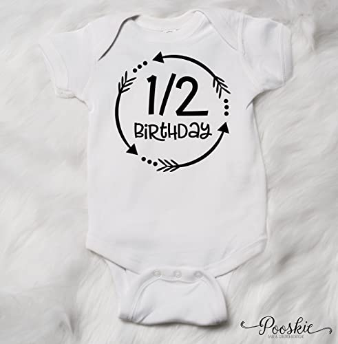 1 2 Birthday Arrow Bodysuit 6 Month Shirt Its My Outfit Half Boy