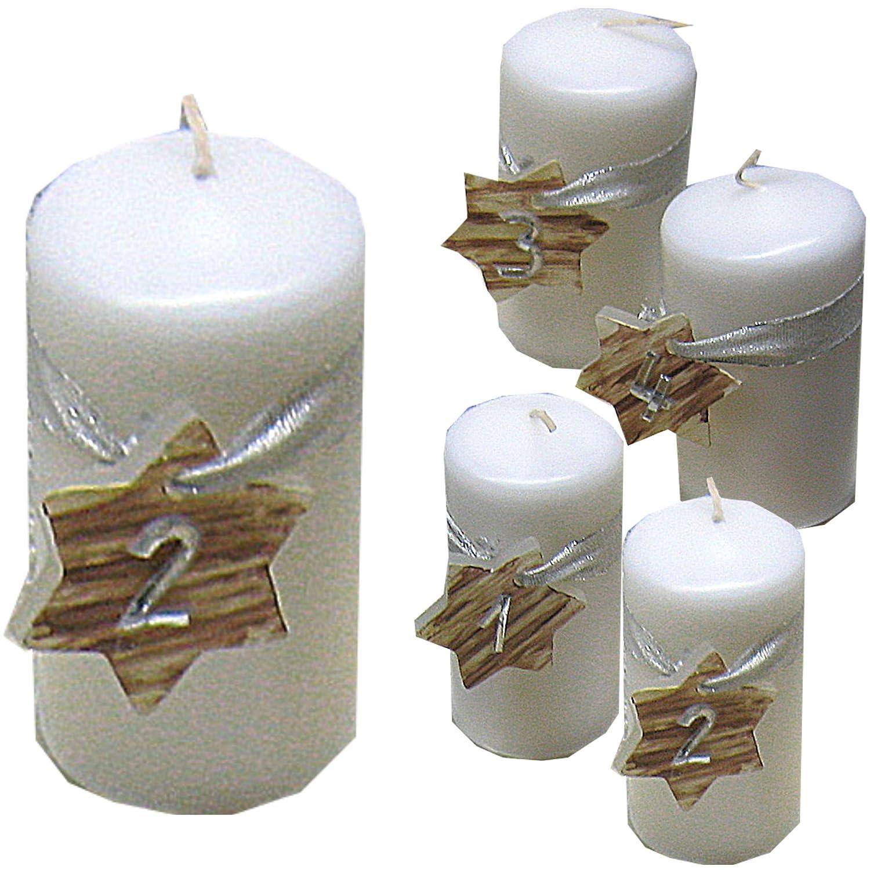 10 Bolsius Stumpenkerze Blockkerze 100x50mm weiß Adventskerze Weihnachten Kerzen