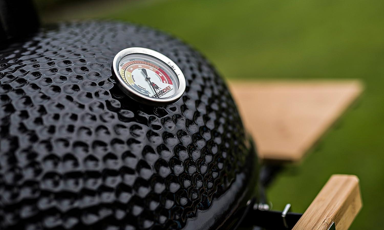 Kamado Chef Barbacoa de cerámica 2200 Classic Diamond Black, Parrilla de carbón para brasear, Hornear, ahumar - Una Experiencia Culinaria Extraordinaria: ...