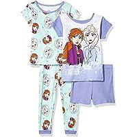 Disney Juego de Pijama de 4 Piezas Frozen Juego de Pijama para Niñas