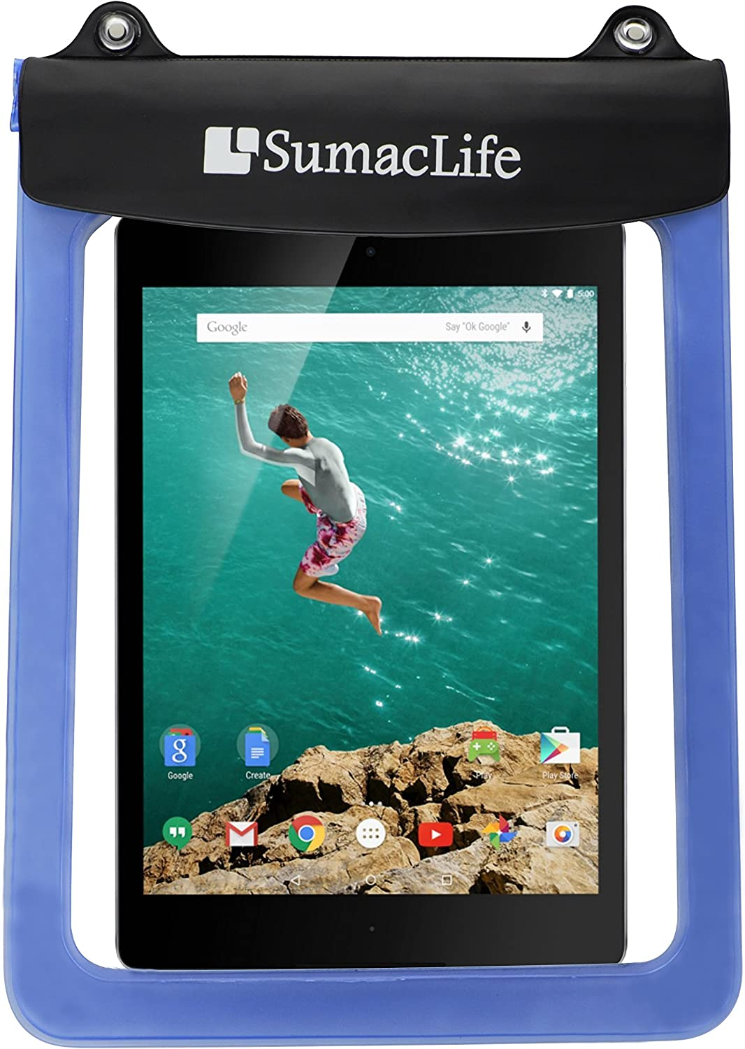 "Sumaclife Waterproof Pouch Bag Case For Dell Venue 11 Pro 4th Gen 10.8 inch/Microsoft Surface RT 2 3 / Lenovo Miix 2 11"" 10.1''/ A10 / Thinkpad 10 / Yoga Tablet 10 HD+ / YOGA TABLET (Blue)"