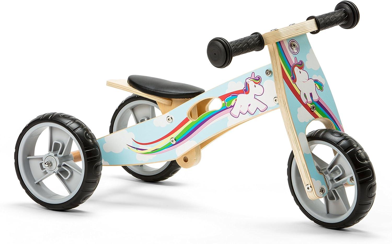 Nicko NIC814 Triciclo de Madera, Unicornio, Large