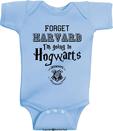 d2eb83418 Forget Harvard I'm Going to h0gwarts Funny Wizard Baby Wizard Onesie by  BeeGeeTees (