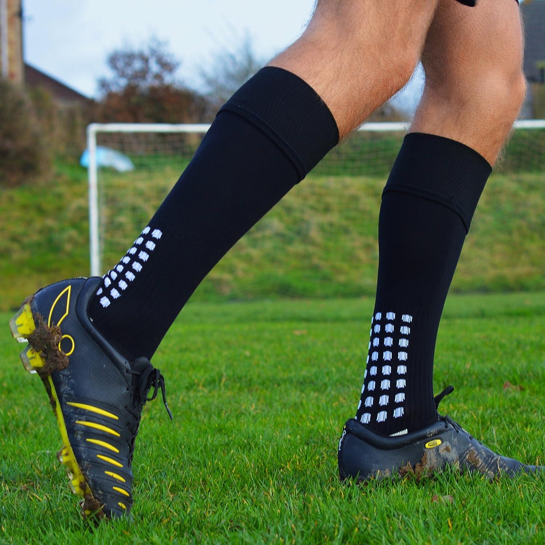 Calcetines de fútbol de calcetines antideslizantes, antideslizante, con botones de goma, en Trusox de/Estilo de tocksox, alta calidad, para baloncesto, ...