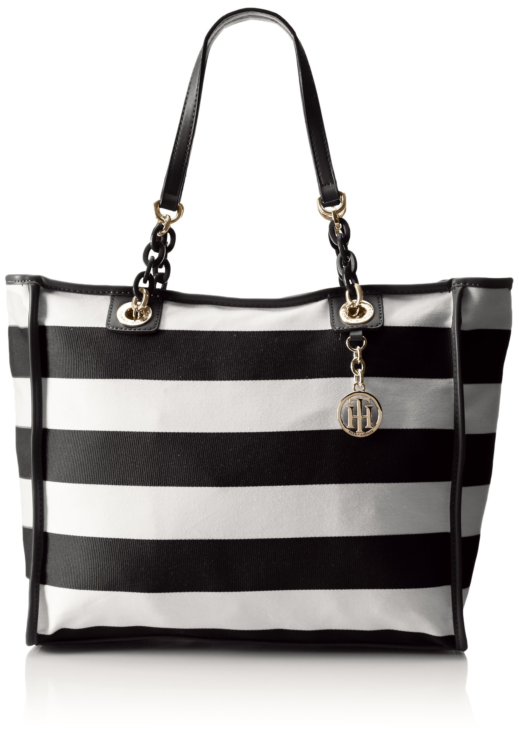 Tommy Hilfiger Tote Bag for Women Adrianna, Black/White