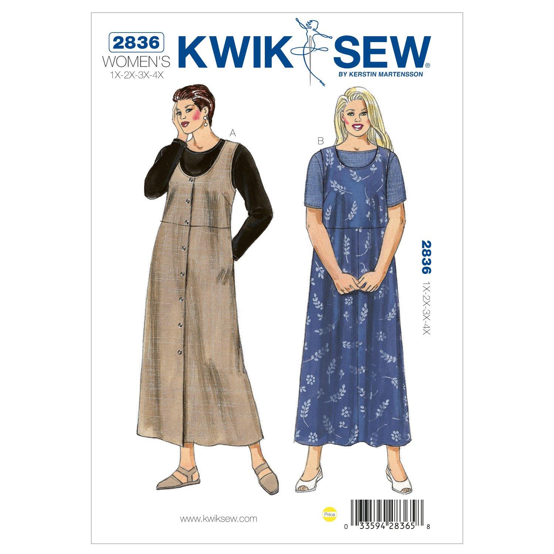 Amazon kwik sew patterns kwik sew k2836 jumpers and shirts sewing pattern size 1x 2x 3x jeuxipadfo Choice Image