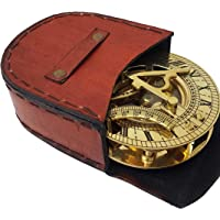 Collectible Sundial Compass 4in - Solid Brass Pocket