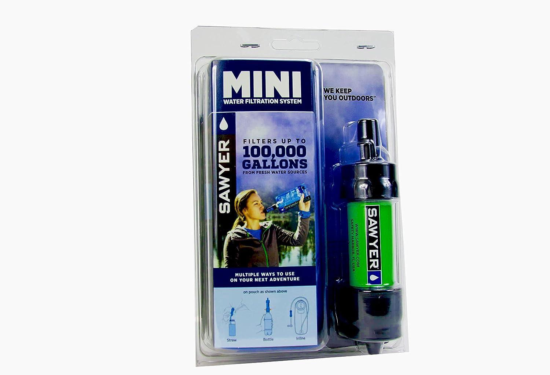 Sawyer Mini Wasserfilter Limited Edition Outdoor Camping Trekking Wasserfilter Wasseraufbereitung 4-er Set 4X Gr/ün