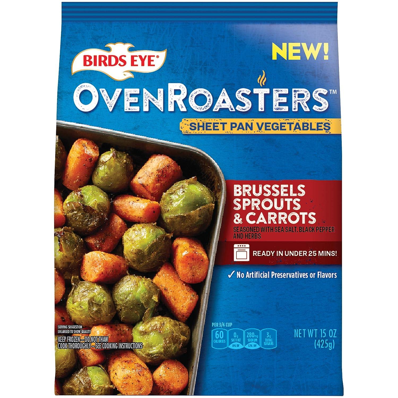 Birds Eye OvenRoasters Sheet Pan Vegetables, Brussels Sprouts & Carrots, Keto Friendly, 15 oz (frozen)