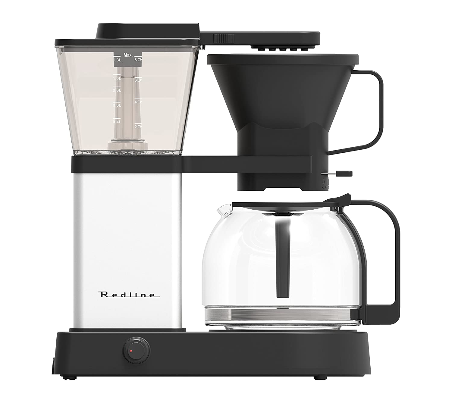 Redline MK1 8 Cup Coffee Brewer with Glass Carafe, Hot Plate and Pre-Infusion Mode (Summer 2018 Refresh) Redline Coffee