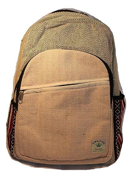 Mochila de fibra de cáñamo/ Mochila de cáñamo / mochila de día de cáñamo /