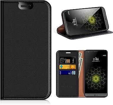 MOBESV Funda Cartera LG G5, Funda Cuero Movil LG G5 Carcasa ...