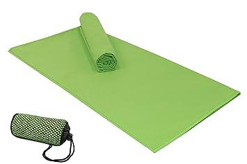 ZOLLNER 2 Toallas de Microfibra Medianas 40x80 cm, Verde, en Otros Colores: Amazon.es: Deportes y aire libre