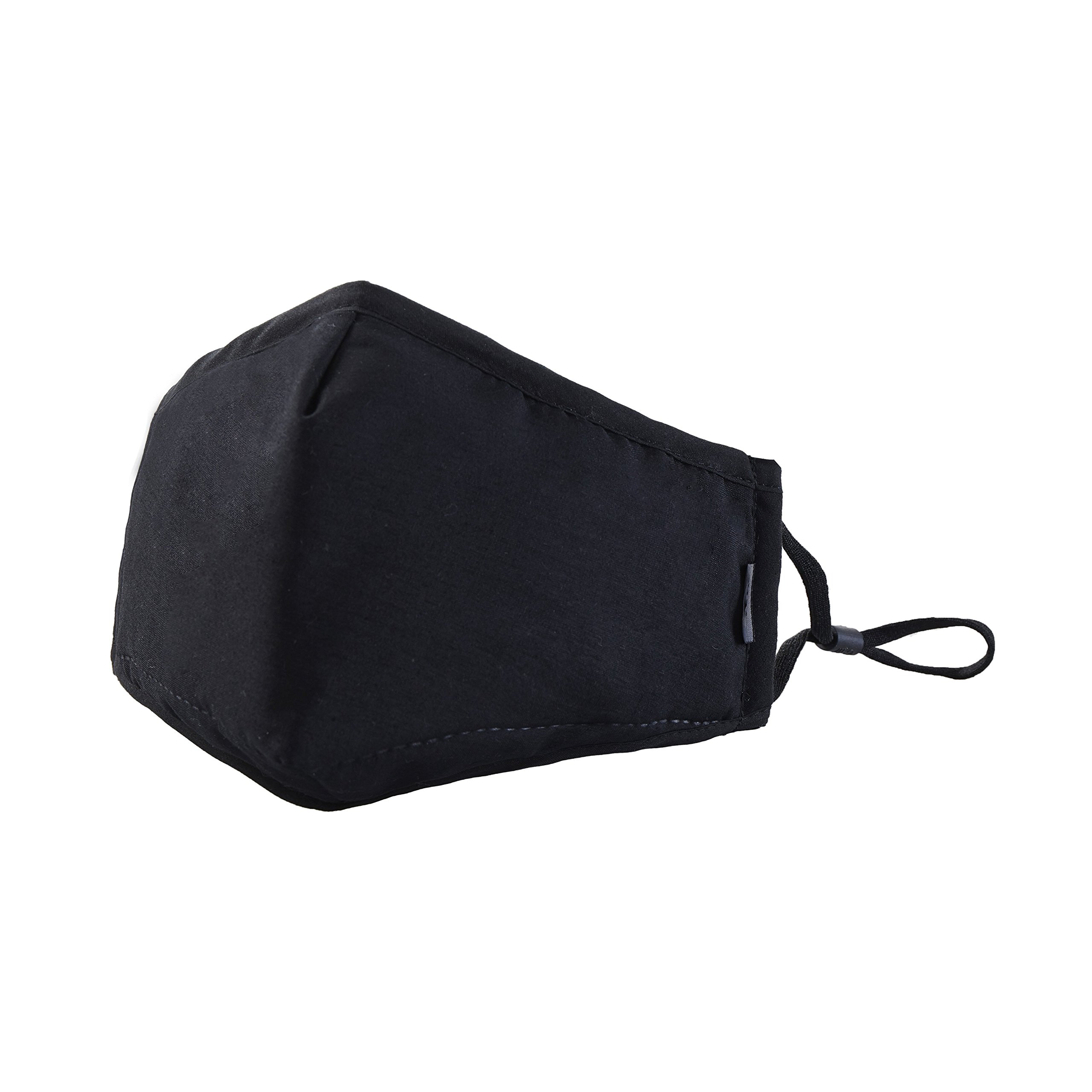 Dust mask Non-Toxic mask, Breathable mask Mouth mask Fashion PM2.5 Outdoor mask Anti-Pollen mask (Model:A-1) (black)